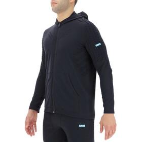 UYN City Hooded Full Zip Running Jacket Men blackboard